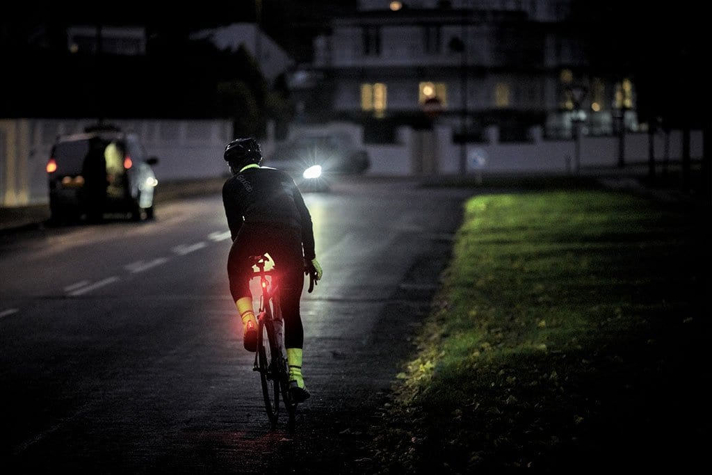Be Aware and Be Seen While Cycling at Night
